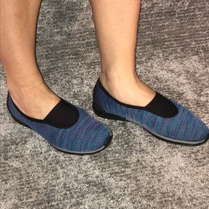 AERSOLES Blue Combo Walking/Athletic Shoes Size 9